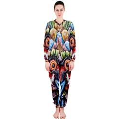 Wood Sculpture Bali Logo Onepiece Jumpsuit (ladies)