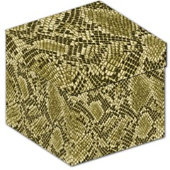 Yellow Snake Skin Pattern Storage Stool 12