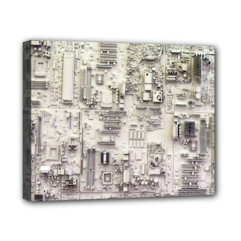 White Technology Circuit Board Electronic Computer Canvas 10  X 8  by BangZart