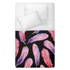Watercolor Pattern With Feathers Duvet Cover (single Size) by BangZart