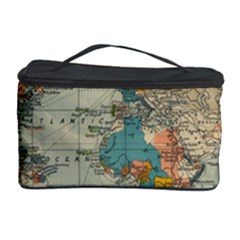 Vintage World Map Cosmetic Storage Case by BangZart