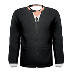 Bodyguard Black Suit With Tie Men s Long Sleeve Tee