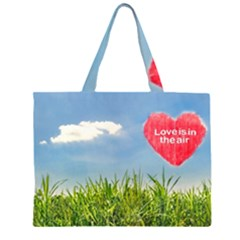 Love Concept Poster Zipper Large Tote Bag by dflcprints