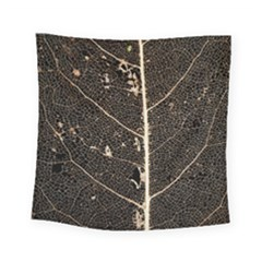 Vein Skeleton Of Leaf Square Tapestry (small) by BangZart