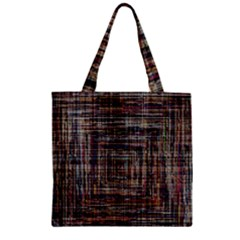 Unique Pattern Zipper Grocery Tote Bag by BangZart
