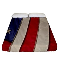Usa Flag Fitted Sheet (queen Size) by BangZart