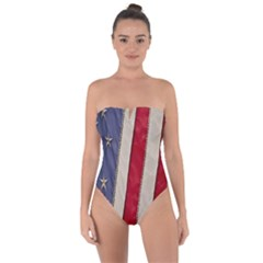 Usa Flag Tie Back One Piece Swimsuit