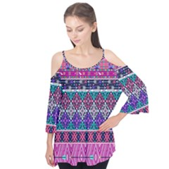 Tribal Seamless Aztec Pattern Flutter Tees by BangZart