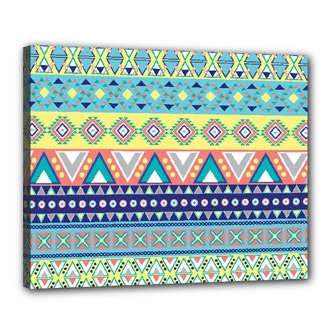 Tribal Print Canvas 20  X 16  by BangZart
