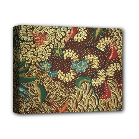 Traditional Batik Art Pattern Deluxe Canvas 14  X 11  by BangZart
