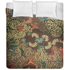 Traditional Batik Art Pattern Duvet Cover Double Side (california King Size) by BangZart