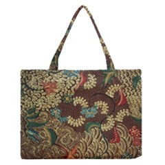 Traditional Batik Art Pattern Medium Zipper Tote Bag by BangZart