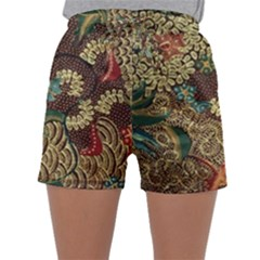 Traditional Batik Art Pattern Sleepwear Shorts