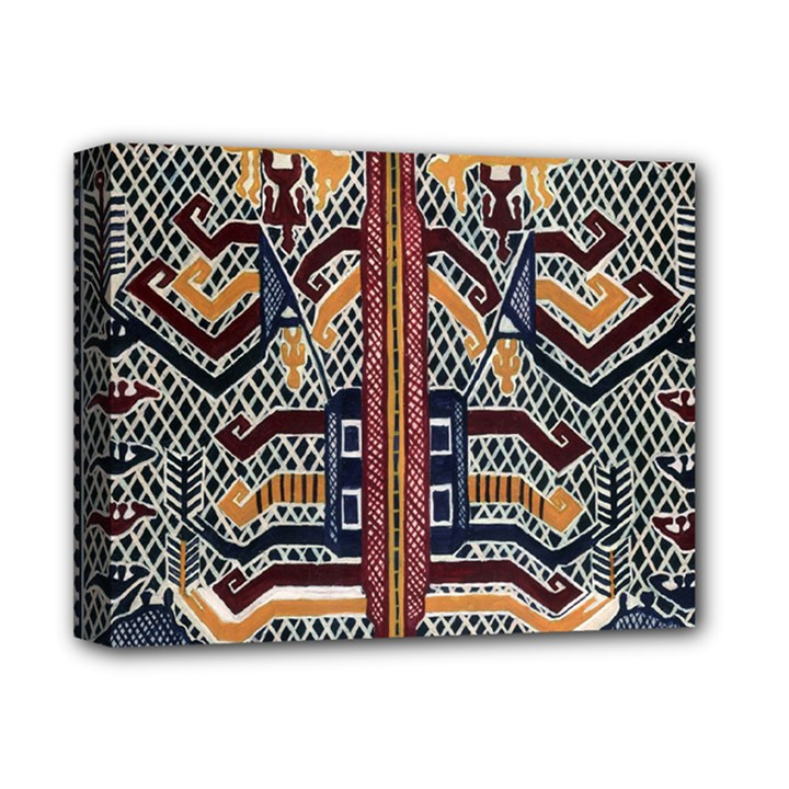 Traditional Batik Indonesia Pattern Deluxe Canvas 14  x 11
