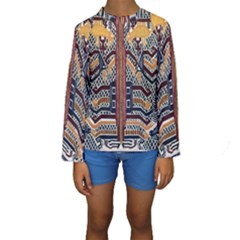 Traditional Batik Indonesia Pattern Kids  Long Sleeve Swimwear