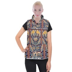 Traditional Batik Indonesia Pattern Women s Button Up Puffer Vest