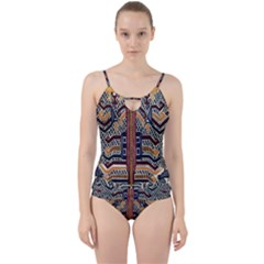 Traditional Batik Indonesia Pattern Cut Out Top Tankini Set