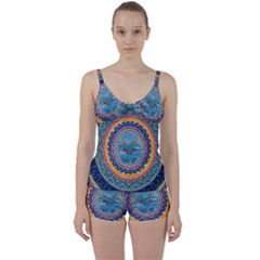Traditional Pakistani Art Tie Front Two Piece Tankini