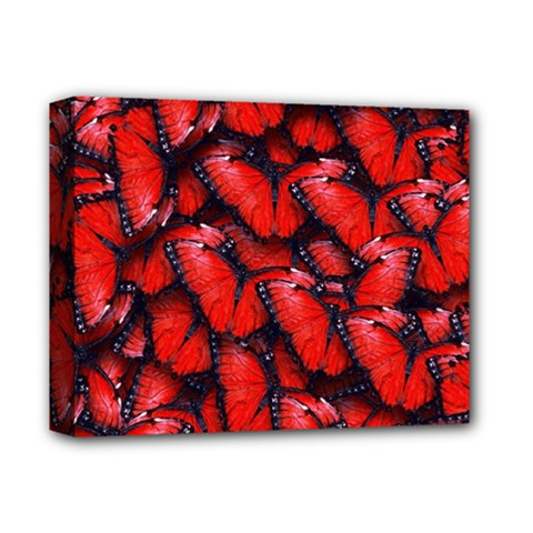 The Red Butterflies Sticking Together In The Nature Deluxe Canvas 14  X 11  by BangZart