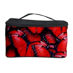 The Red Butterflies Sticking Together In The Nature Cosmetic Storage Case
