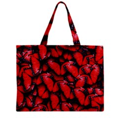The Red Butterflies Sticking Together In The Nature Zipper Mini Tote Bag by BangZart
