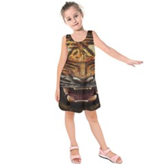Tiger Face Kids  Sleeveless Dress