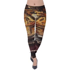 Tiger Face Velvet Leggings