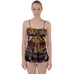 Tiger Face Babydoll Tankini Set