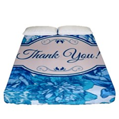 Thank You Fitted Sheet (queen Size) by BangZart