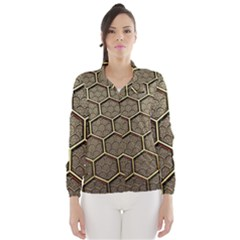 Texture Hexagon Pattern Wind Breaker (women)