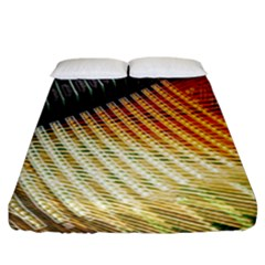 Technology Circuit Fitted Sheet (california King Size) by BangZart