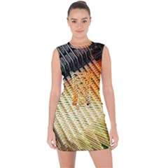 Technology Circuit Lace Up Front Bodycon Dress by BangZart