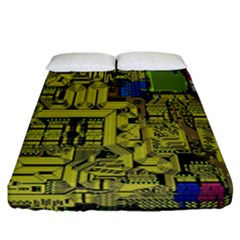 Technology Circuit Board Fitted Sheet (california King Size) by BangZart