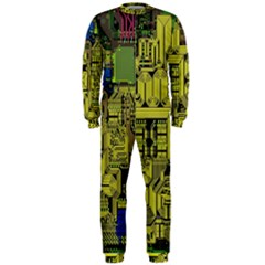 Technology Circuit Board Onepiece Jumpsuit (men)