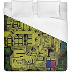 Technology Circuit Board Duvet Cover (king Size) by BangZart