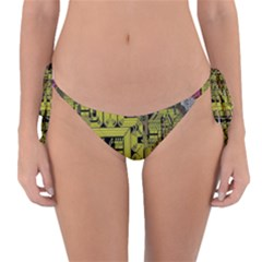 Technology Circuit Board Reversible Bikini Bottom by BangZart