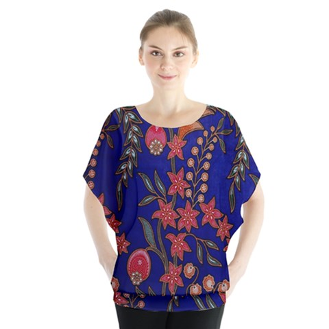Texture Batik Fabric Blouse by BangZart