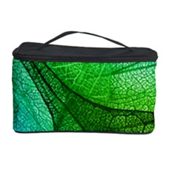 Sunlight Filtering Through Transparent Leaves Green Blue Cosmetic Storage Case by BangZart