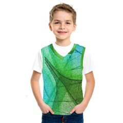 Sunlight Filtering Through Transparent Leaves Green Blue Kids  Sportswear