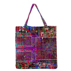 Technology Circuit Board Layout Pattern Grocery Tote Bag by BangZart