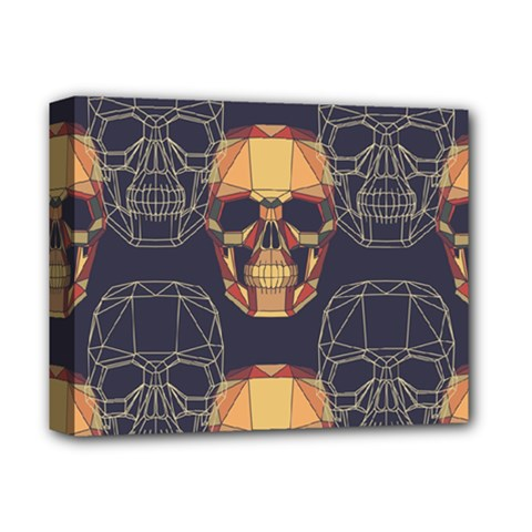 Skull Pattern Deluxe Canvas 14  X 11  by BangZart