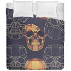 Skull Pattern Duvet Cover Double Side (california King Size) by BangZart