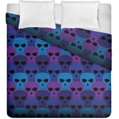 Skull Pattern Wallpaper Duvet Cover Double Side (king Size) by BangZart