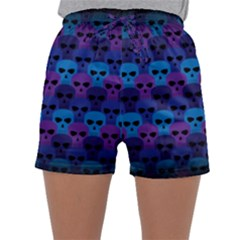Skull Pattern Wallpaper Sleepwear Shorts