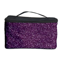 Purple Colorful Glitter Texture Pattern Cosmetic Storage Case by paulaoliveiradesign