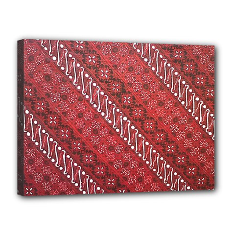 Red Batik Background Vector Canvas 16  X 12  by BangZart
