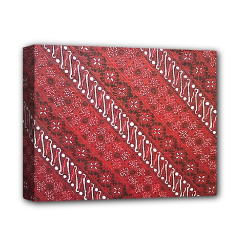 Red Batik Background Vector Deluxe Canvas 14  X 11  by BangZart