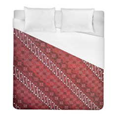 Red Batik Background Vector Duvet Cover (full/ Double Size) by BangZart