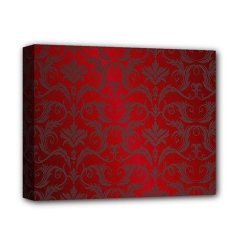 Red Dark Vintage Pattern Deluxe Canvas 14  X 11  by BangZart