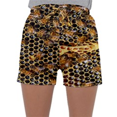 Queen Cup Honeycomb Honey Bee Sleepwear Shorts